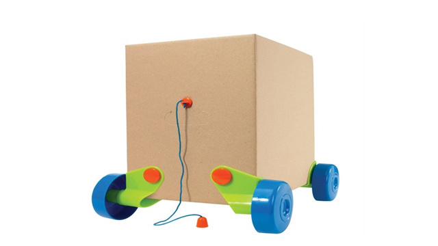 Effectively Double Your Kid's Birthday Present Haul With These Cardboard Box Wheels