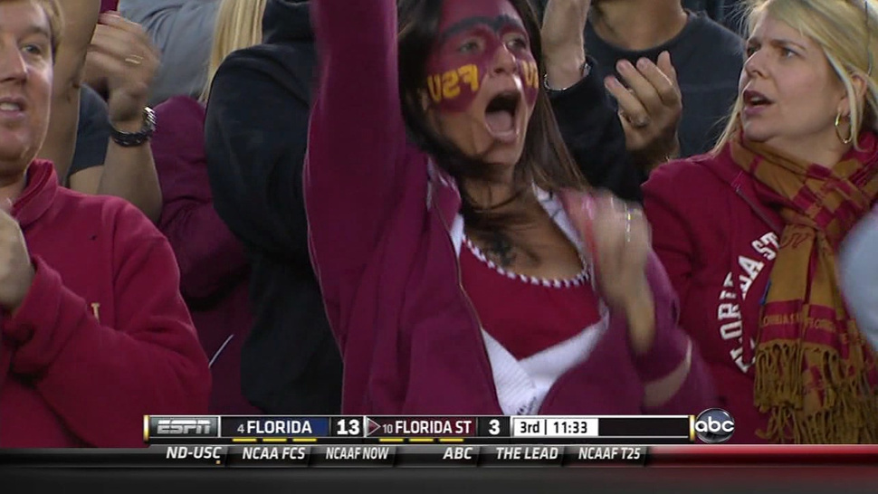 Florida State Fan Learns The Hard Way What Happens When You Use A Mirror To Put On Your Face Paint