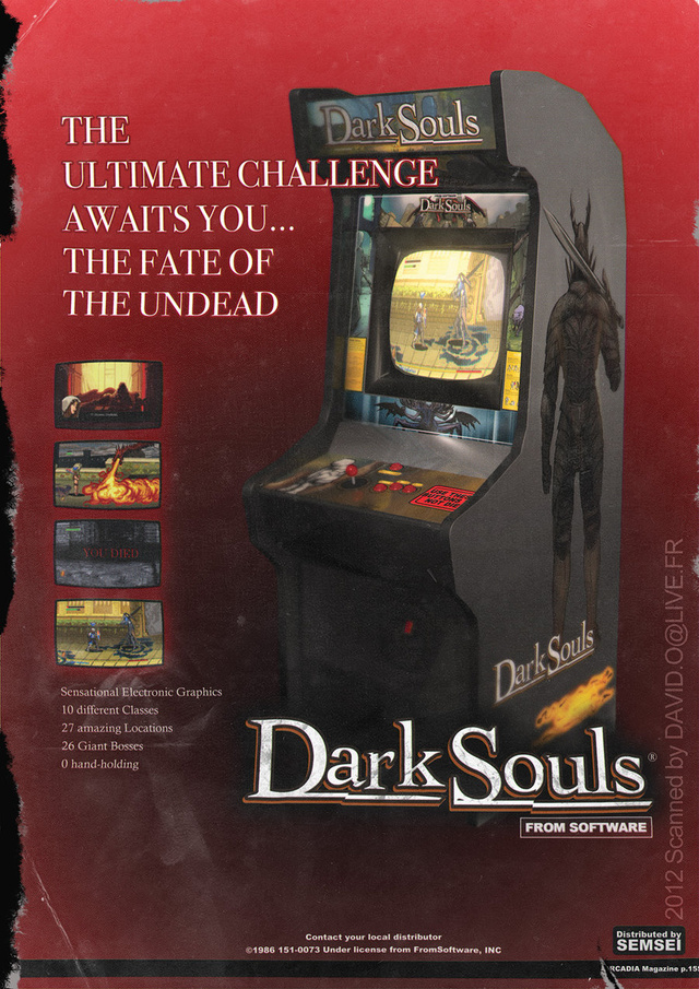 If Dark Souls was an Arcade Cabinet ...