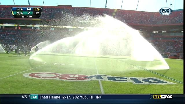 Seahawks-Dolphins Delayed When Sun Life Stadium Sprinklers Go O…