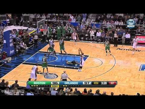 Jameer Nelson Goes One Way, Paul Pierce Goes Flat On His Back