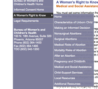 Arizona Launches Manipulative Government Website to Shame Women Out of Getting Abortions