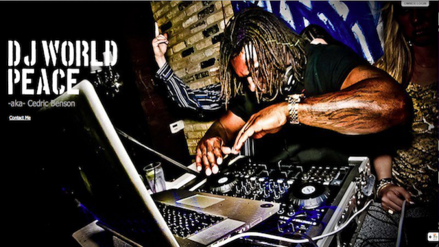"Cedric Benson Is Moonlighting As ""DJ World Peace,"" Playing Gigs In Strip Clubs"