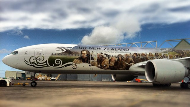 Is there any scrap of New Zealand left not plastered with Hobbit advertising?
