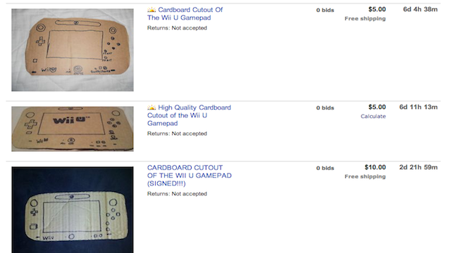Something Tells Me These Wii U Auctions Aren't Real