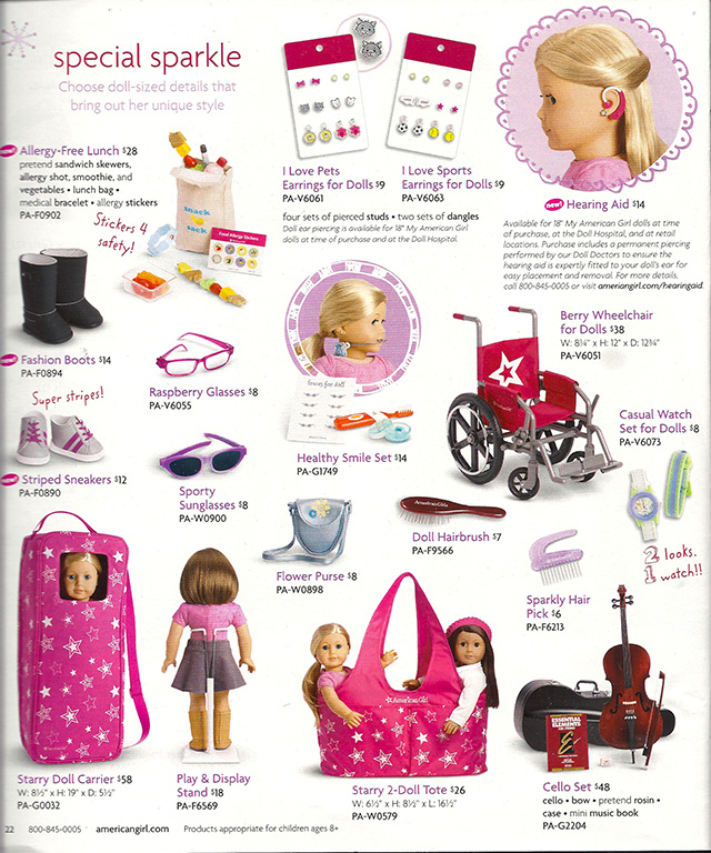 This Holiday Season, Kids Will Be Getting American Girl Dolls With Hearing Aids and Allergy-Free Lunches