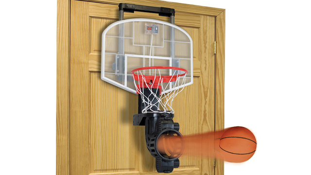 Auto-Return Indoor Basketball Hoop Apparently Doubles as a Civil War Cannon