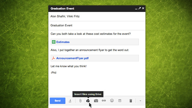 Gmail Integrates with Google Drive, Allows for Attachments Up to 10GB