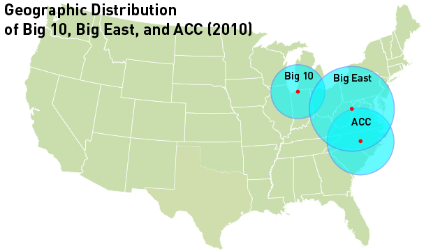 The Big Ten Is On The Move: Updating Our Conference Realignment Maps!