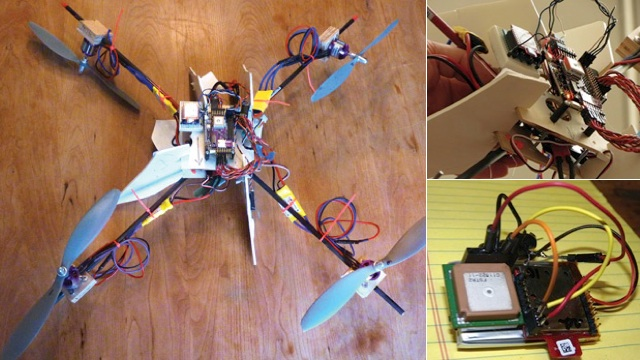 Genius Dad Makes Flying Quadrocopter To Walk His Kid To The Bus Stop