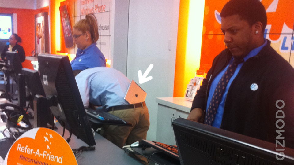Click here to read This Asshat AT&T Store Rep Wears His iPad In His Ass