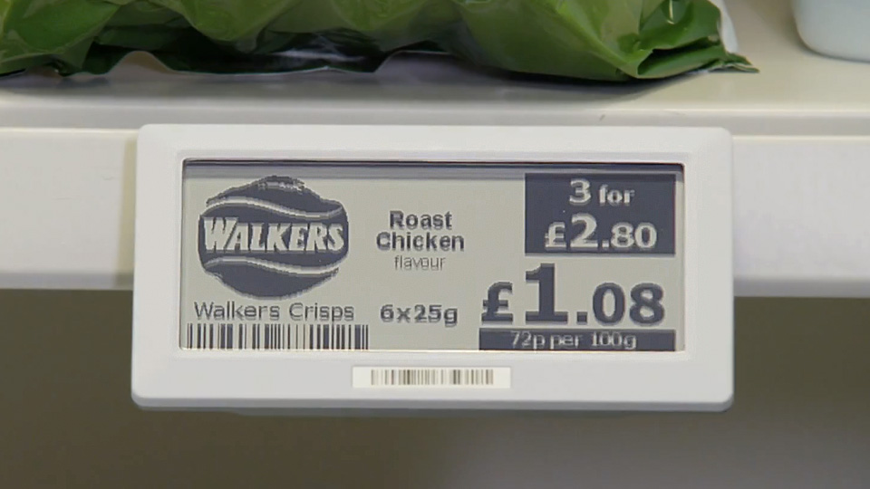 Self-Updating LCD Grocery Shelf Labels Are Pure Genius