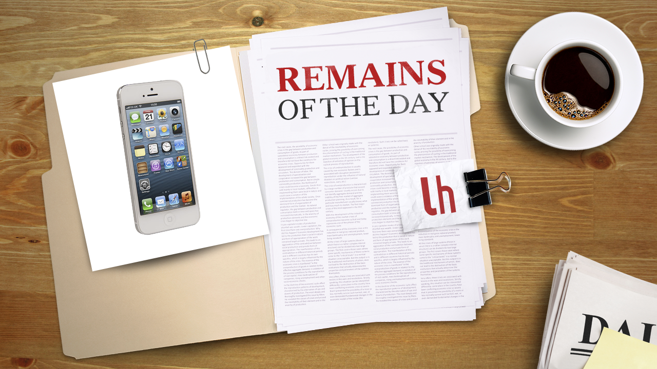 Click here to read Remains of the Day: You Can Now Buy the iPhone 5 Unlocked