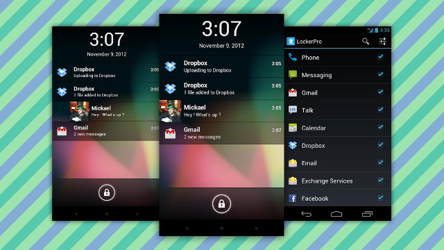 LockerPro Lockscreen for Android Puts App Notifications Right On Your Lock Screen