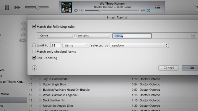 Click here to read How to Exclude Holiday Music from Your iTunes Genius Playlists