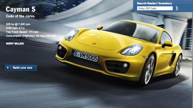 Click here to read Who Can Configure The Best 2013 Porsche Cayman?