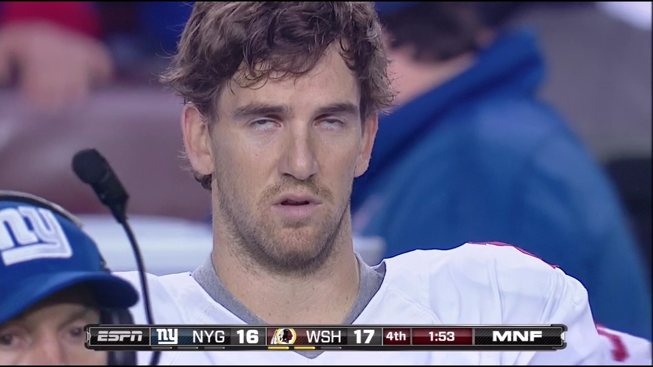 By The End Of Last Night's Loss To Washington, Eli Manning Was …