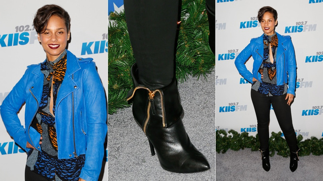 Stars Mixed Business With Leather at the Jingle Ball