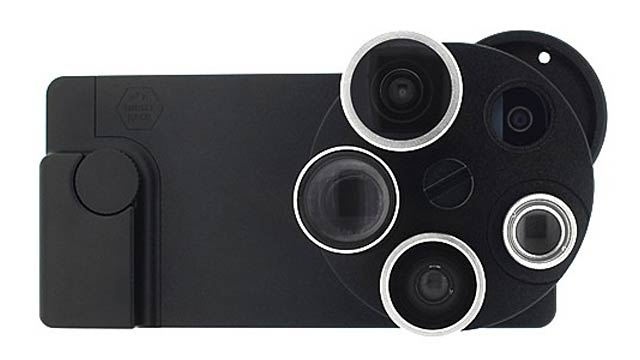 This iPhone 5 Case Puts Five Spinning Lenses At Your Disposal