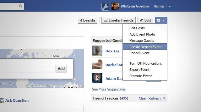 Facebook Adds the Ability to Create a Repeat Event
