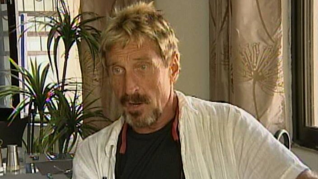 Report: John McAfee Hospitalised After His Asylum Request Is Denied