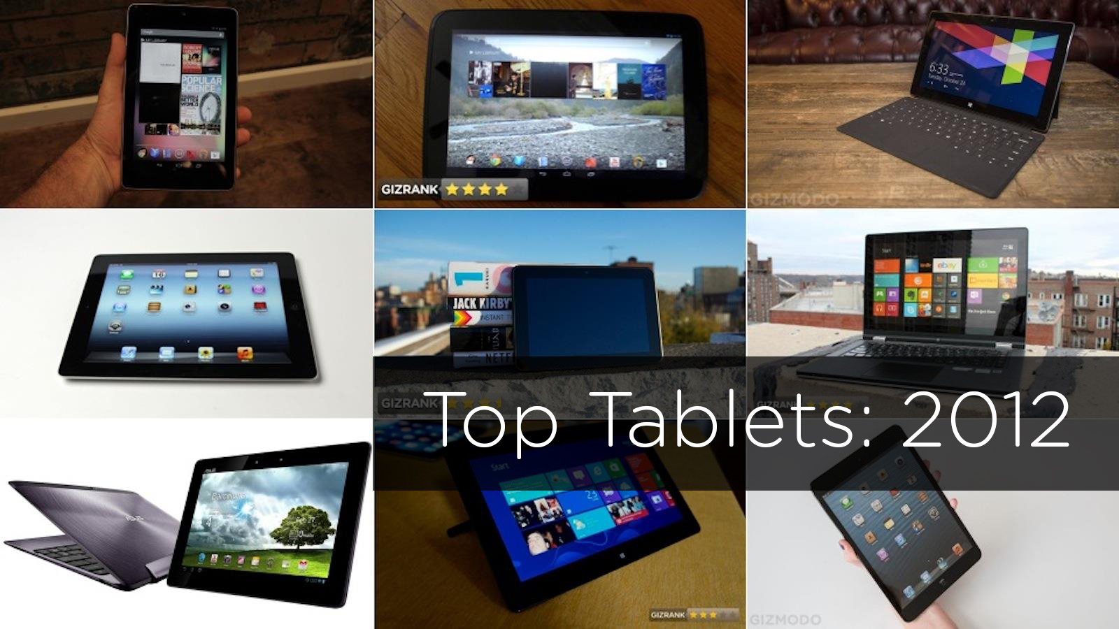 The Most Important Tablets Of 2012