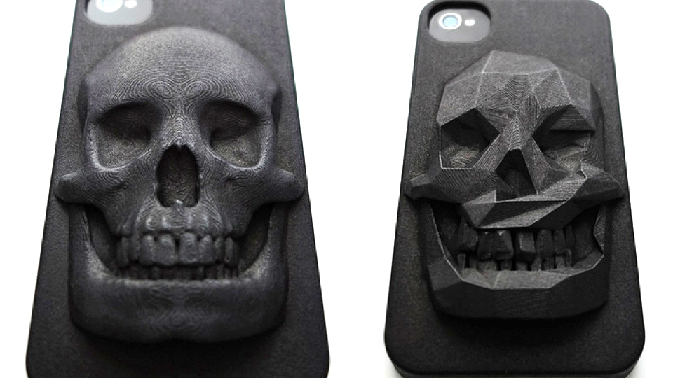 Click here to read This Skull iPhone Case Is 3D-Printed <em>and</em> a Piece of Art