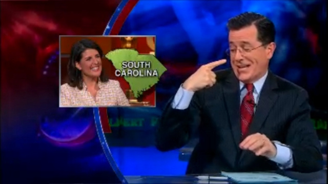 ICYMI: Stephen Colbert Asks Viewers to Help Him Mount Campaign to Replace Outgoing South Carolina Sen. Jim DeMint
