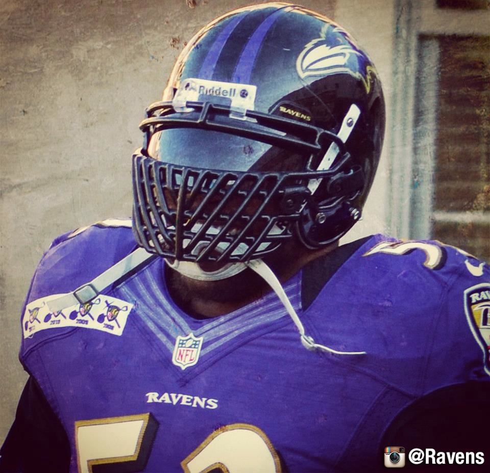 Ray Lewis Has A Terrifying New Facemask