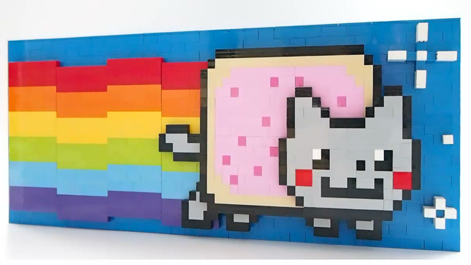 This Lego Nyan Cat Is Mechanically Animated And Infinitely Cool
