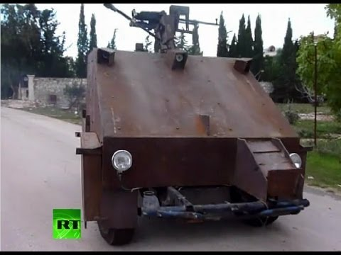 Click here to read Syrian Rebels Built This Tank Using Old Cars and Games Consoles