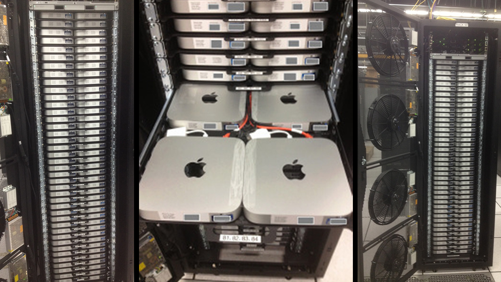 Click here to read This Custom Datacenter Rack Has 160 Mac Minis Crammed Inside of It