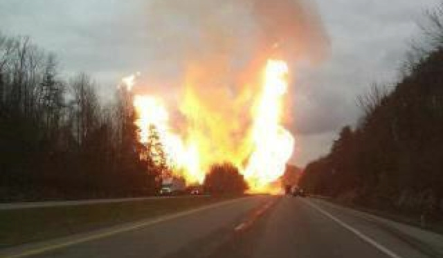 An Incredibly Massive Explosion Set The Highway On Fire In West Virginia [UPDATE: FIRE EXTINGUISHED]