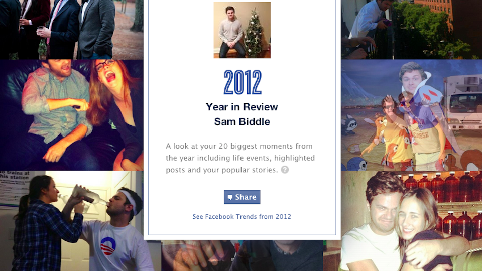 Look Back On Your Awesome Life With Facebook's 2012 Personal Roundup