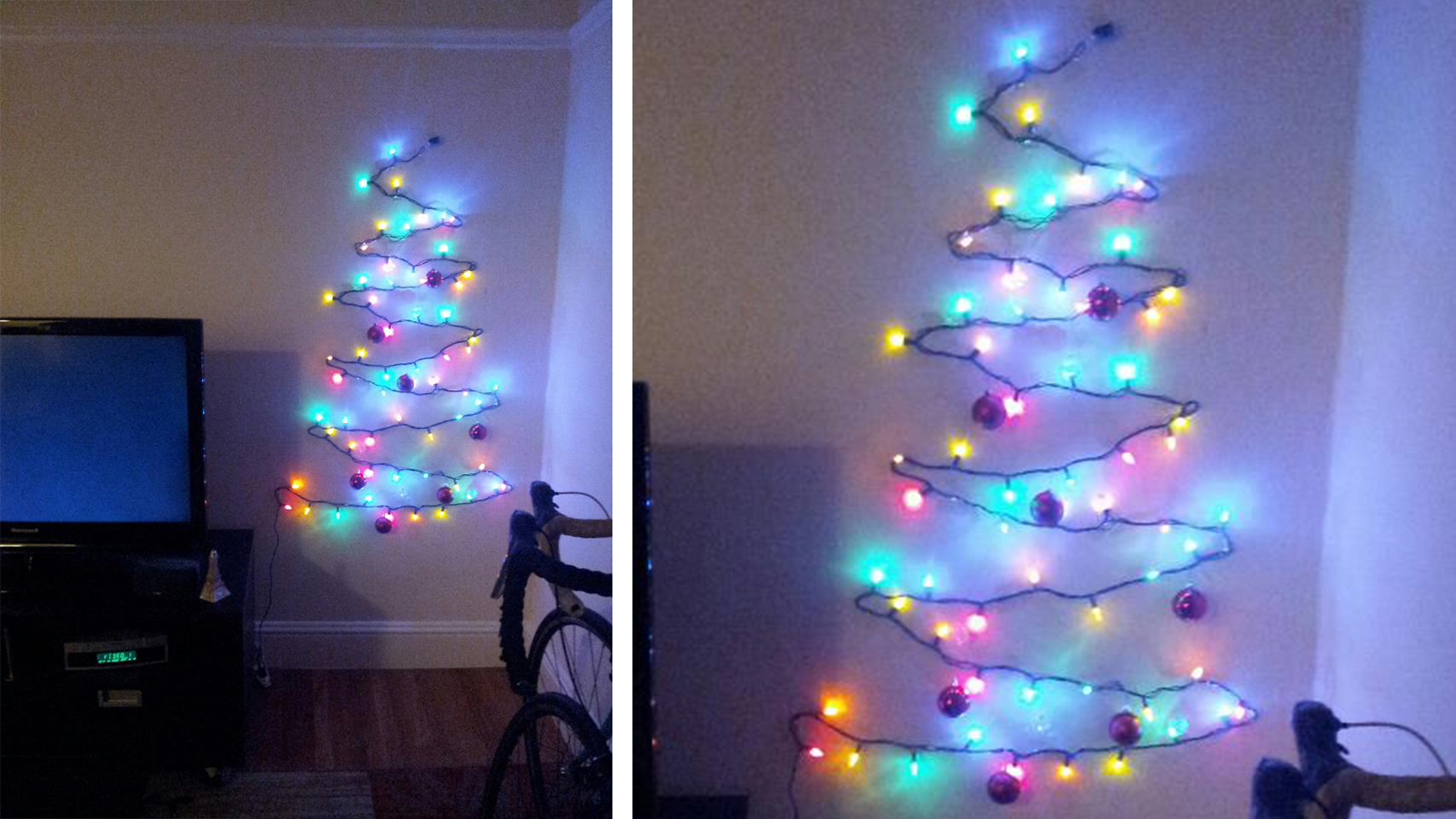 This Clever Christmas Tree Is The Answer To Your Cramped Holiday Woes