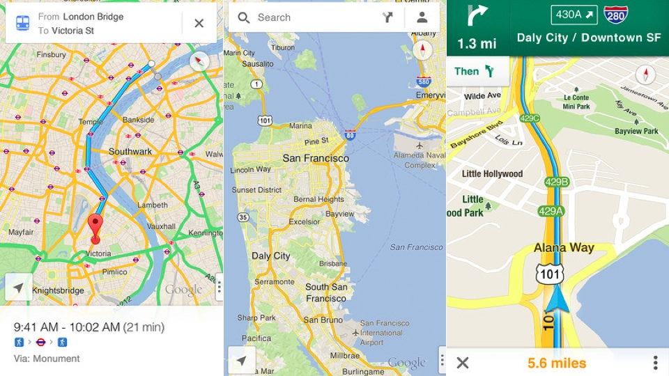 Download Google Maps for iOS Right Now and Get Turn by Turn Navigation, Public Transit Directions and Street View