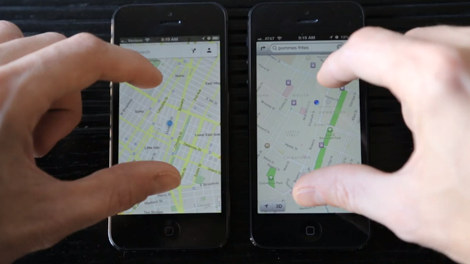 Click here to read Google vs. Apple Maps: Total Domination