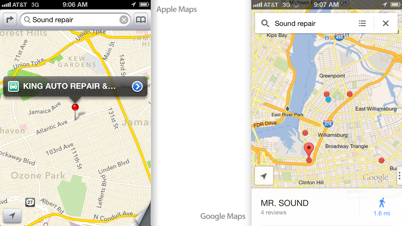 Google Maps For Ios Review Maps Done Right Gizmodo