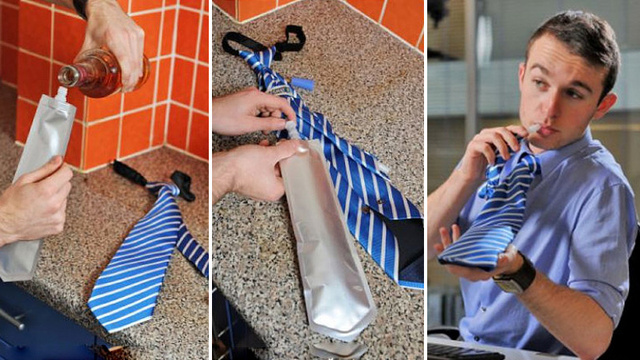The Flask Tie: Because Drinking on the Job Wasn't Easy Enough