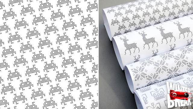 Download Some Free Pixelated Gift Wrap and Do the Holidays Right (Cheap, Nerdy, and Easy)