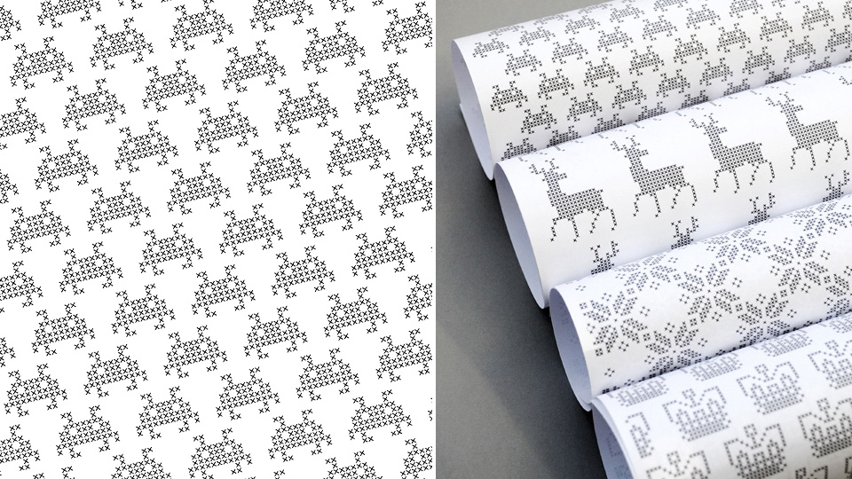 Download Free Pixelated Gift Wrap And Do The Holidays Right