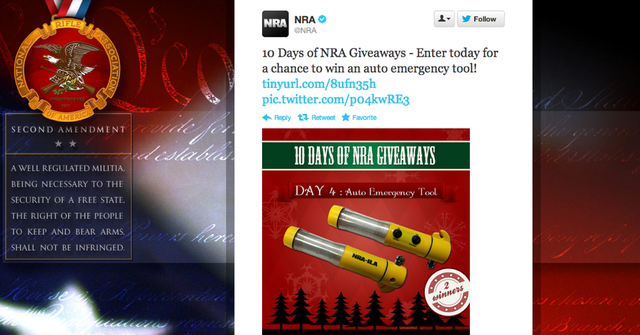 Meanwhile, On the NRA's Twitter Feed