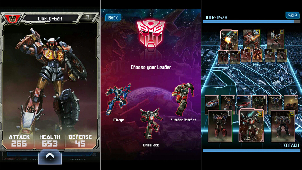 <em>Transformers Legends</em> is Out, Suddenly Mobile Collector Card Games Make Sense