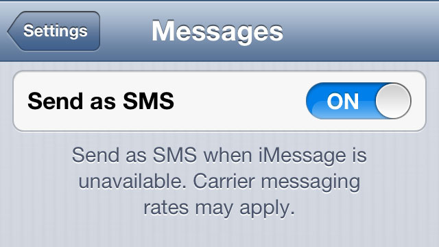 When Data Isn't Available, Just Choose to Send Your iMessage as SMS