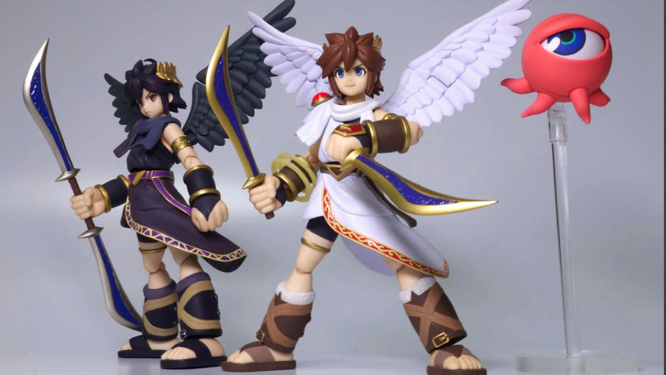 Masahiro Sakurai who helmed Kid Icarus Uprising recently showed off these two new Figma Kid Icarus figures of the characters Pit and Dark Pit. & Here Have Some Kid Icarus Action Figures | Kotaku Australia