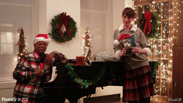Samuel L. Jackson and Anne Hathaway Go Bummer to Bummer in the First Annual Holiday Film Sad-Off