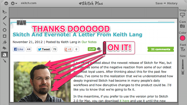 Skitch Update Might Make Doodling On Screen Captures Fun Again