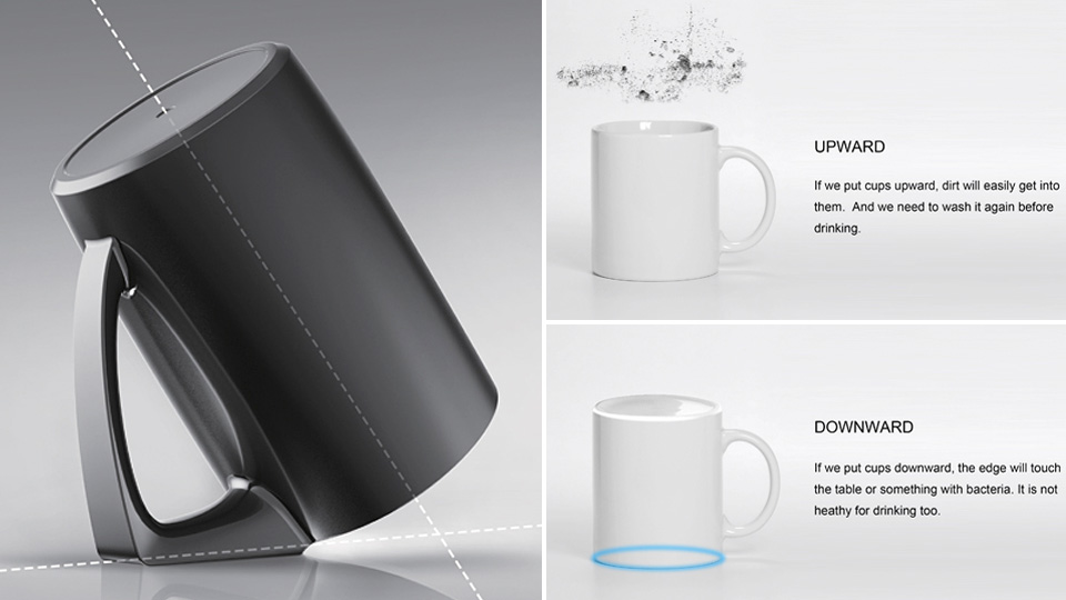 Simple Handle Redesign Keeps This Mug Extra Clean