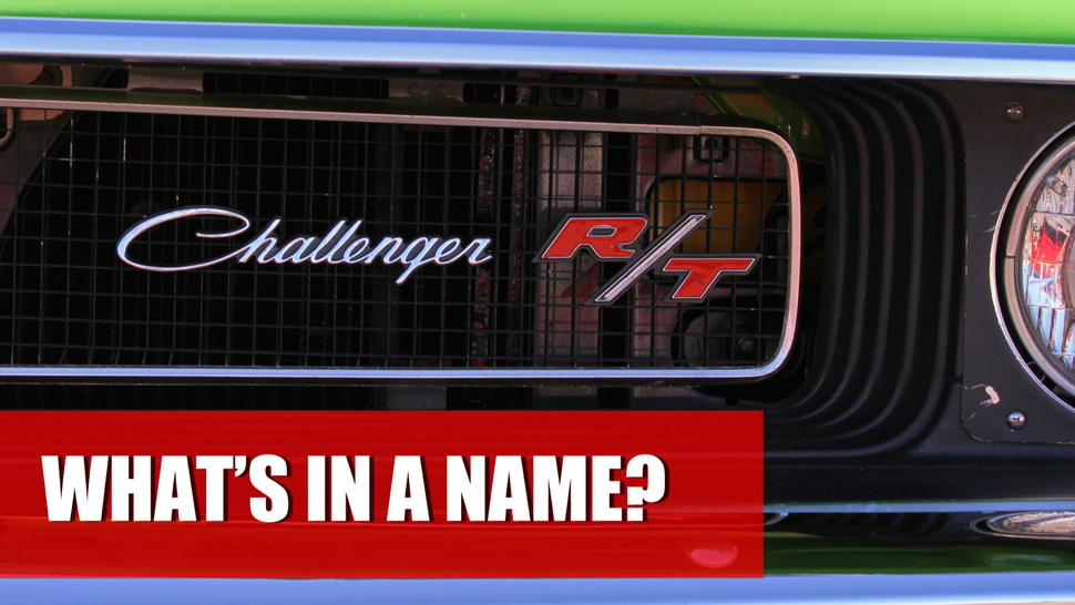 How To Make A Great Car Name — Or Completely Screw It Up