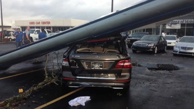 The Mobile Tornado Actually Took Out A Bunch Of Cars At Mercedes Dealership